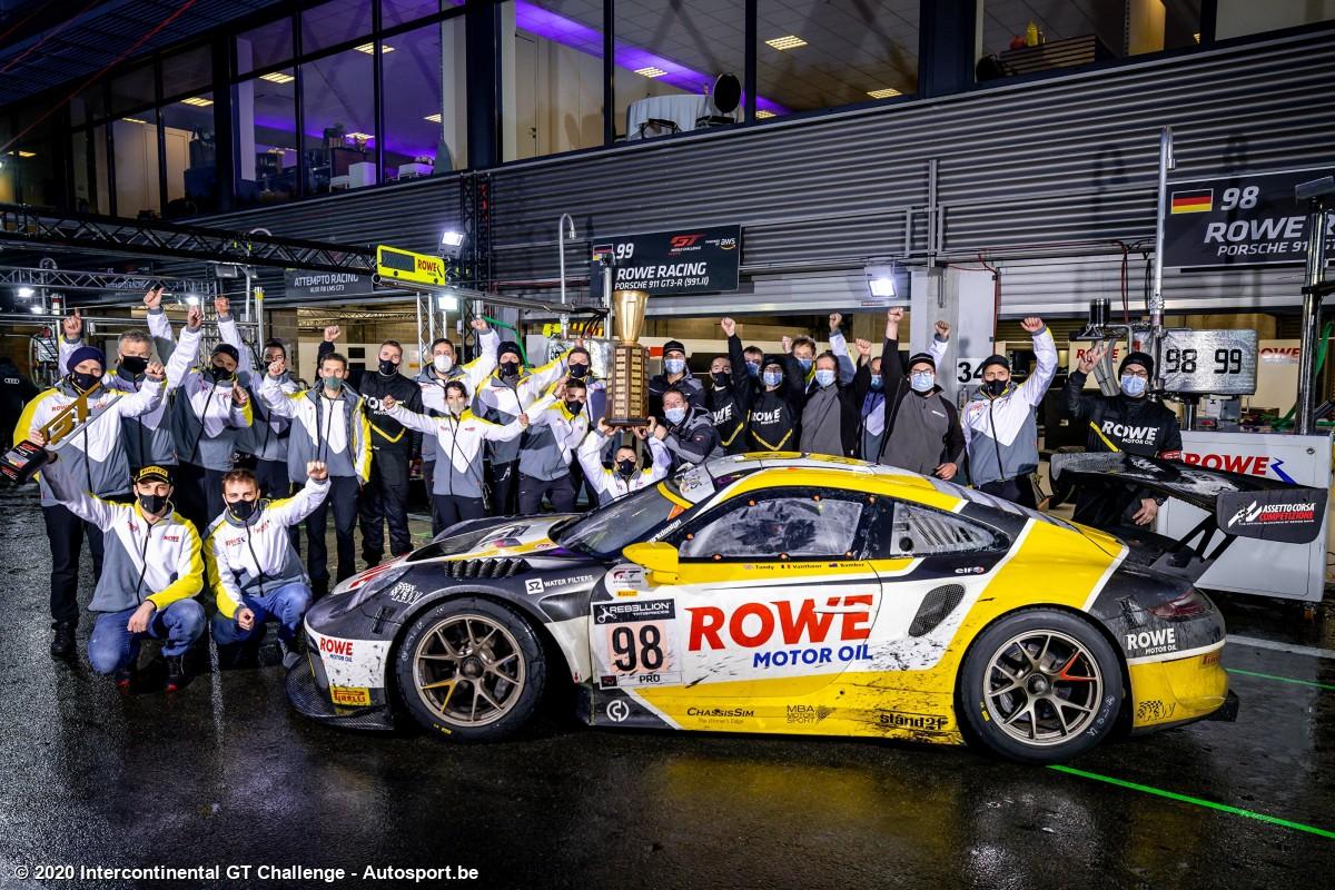 Rowe Racing - Porsche 911 GT3-R - Vanthoor/Bamber/Tandy