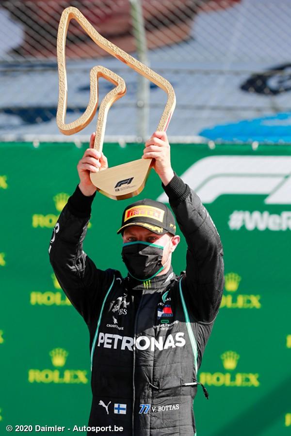 Valtteri Bottas wint GP Oostenrijk 2020