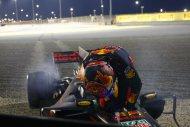 Max Verstappen na crash