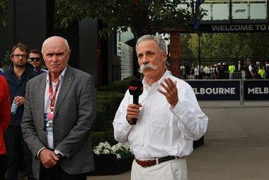 Chase Carey bij de Australische Gran Prix