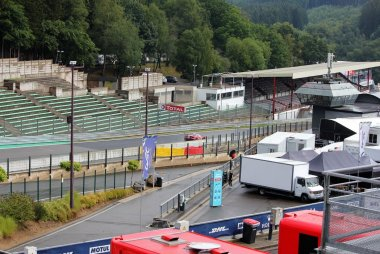 Lege tribunes in Spa-Francorchamps