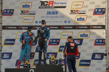 Podium 2020 TCR Europe Zolder Race 1