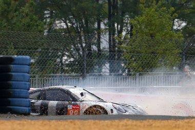 De crash van Thomas Preining (Le Mans 2020)