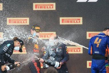 Podium 2021 F1 GP van Emilia-Romagna
