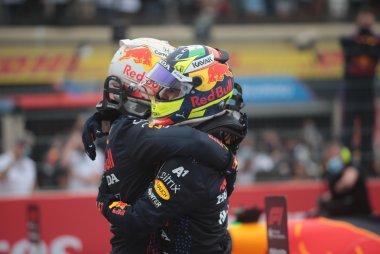 Max Verstappen en Sergio Pérez