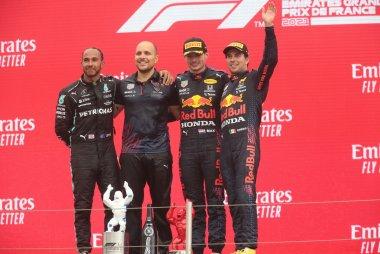Podium 2021 F1 Grote Prijs van Frankrijk