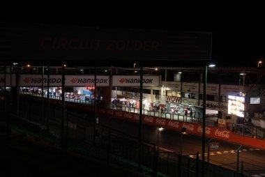 De nacht over Circuit Zolder