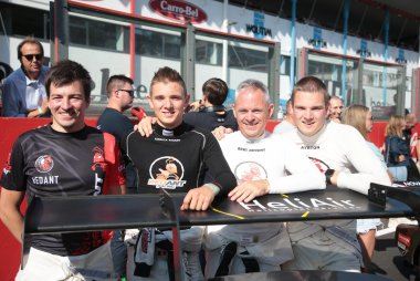 Glenn Van Parijs, Yannick Redant, Bert Redant en Ayrton Redant