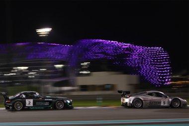 Black Falcon - Mercedes SLS AMG GT3 vs. AF Corse - Ferrari 458 Italia GT3