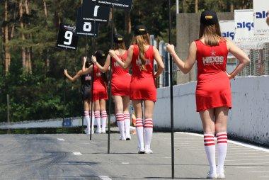 Gridgirls kwalificatie race Zolder 2015
