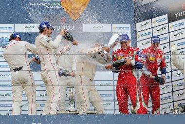 podium LMGTE Pro 2015 WEC 6 Hours of Nürburgring