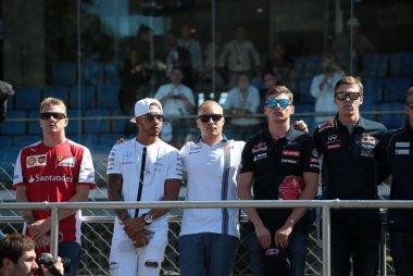 Kimi Raïkkönen - Lewis Hamilton - Valtteri Bottas - Max Verstappen - Daniil Kvyat