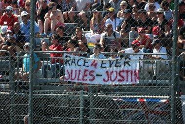 ode aan Jules Bianchi & Justin Wilson GP Italië 2015