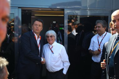 Mario Renzi-Italia's eerste minister en Bernie Ecclestone