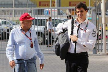 Niki Lauda en Toto Wolff