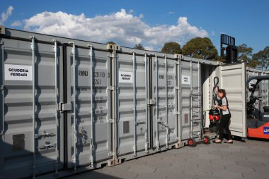 Containers voor F1 oversees