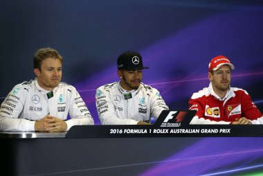 Nico Rosberg - Lewis Hamilton - Sebastian Vettel