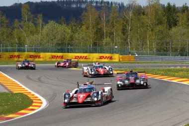 WEC Race Francorchamps 2016 Toyota in front