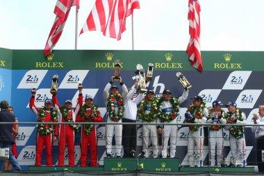 podium GTE Pro 24 Heures du Mans 2016