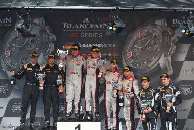 Podium Main sprint race Blancpain Nurburgring 2016