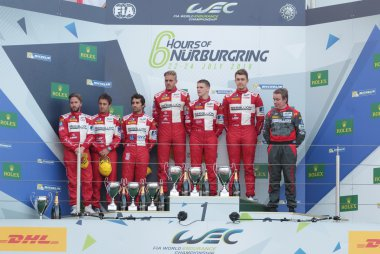 podium LMP1 Privateers 2016 6 Hours of Nürburgring