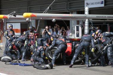 Pitstop Daniel Ricciardo - Red Bull Racing