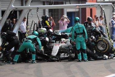 Pitstop Lewis Hamilton - Mercedes AMG Petronas Formula One Team