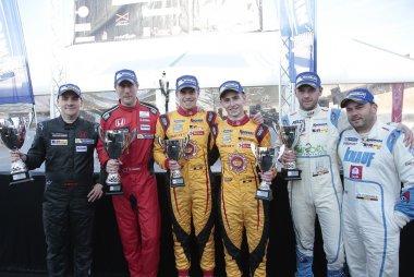 Podium Qualifying Long Race 2016 TCR Benelux Mettet