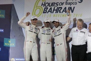 Marc Lieb, Romain Dumas & Neel Jani - kampioen WEC Driver's Championship