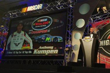 Anthony Kumpen tijdens de NASCAR Night of Champions 2016