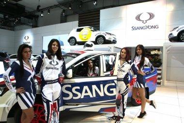 Hostessen Ssangyong Autosalon Brussel 2017
