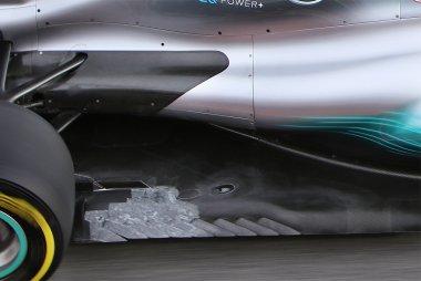 Detail vloer Mercedes W08 EQ Power+