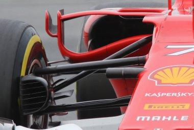 Detail barge board en sidepod Ferrari SF70H