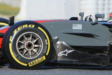 Detail geblazen wielmoer Haas VF-17