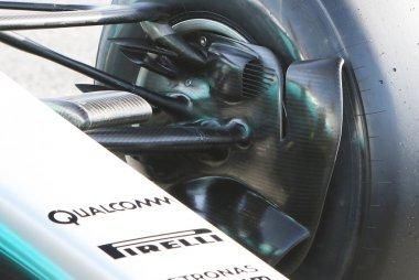 Detail luchtinlaat remmen Mercedes W08 EQ Power+