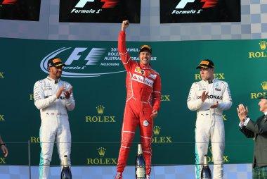 Podium F1 GP Australië 2017