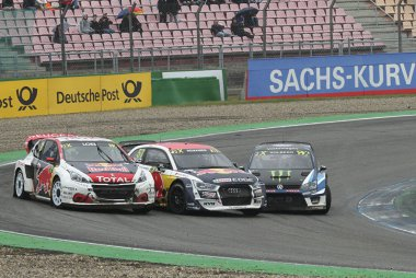 Sébastien Loeb (Peugeot), Toomas Heikkinen (Audi) & Petter Solberg (Volkswagen)
