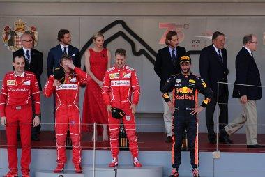 Podium 2017 F1 Monaco GP