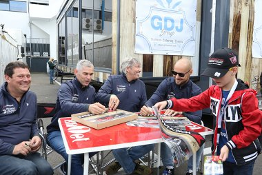 Olivier Hermans, Chris Van Woensel, Mike Janssen en Tom Boonen