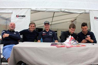 Frédéric Bouvy, Damien Coens, Vincent Despriet, Didier Van Dalen en John Wartique