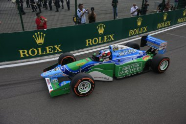 Mick Schumacher in de Benetton