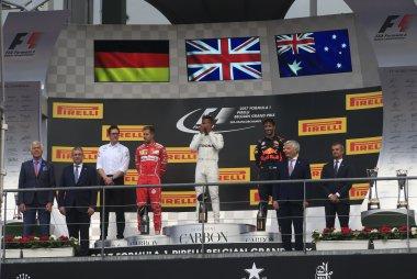 Podium 2017 F1 GP van België