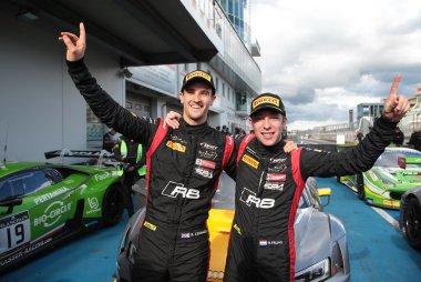 Stuart Leonard en Robin Frijns - winnaars 2017 BGTS Sprint Cup