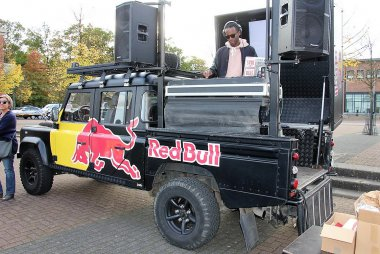 Red Bull DJ on Wheels