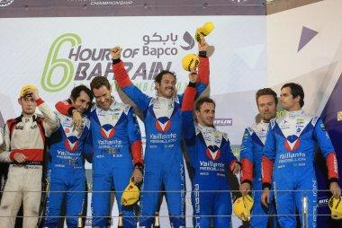 Podium LMP2-klasse FIA WEC 6H Bahrein 2017