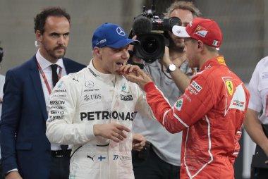 Valtteri Bottas en Sebastian Vettel