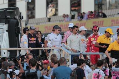 Drivers Parade GP Abu Dhabi 2017