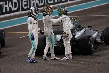 Valtteri Bottas, Lewis Hamilton en Felipe Massa
