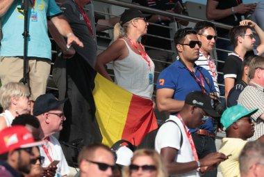 Belgische fans in Abu Dhabi