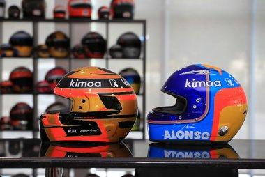 Helmen Stoffel Vandoorne en Fernando Alonso